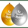 Ballon Umrah Mubarak Goud en Zilver - 10 stuks