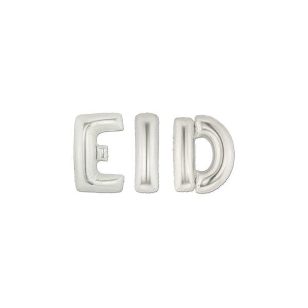 Folie Ballon Eid Letters zilver