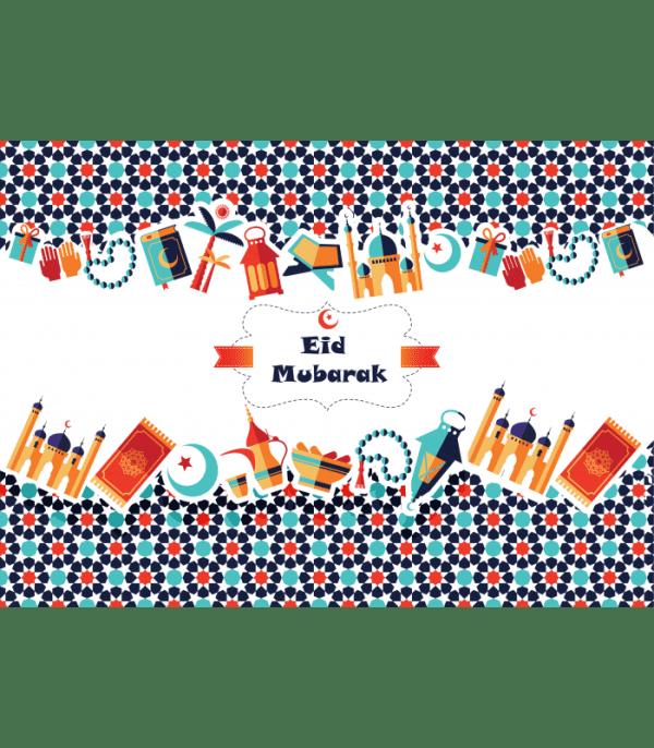 Placemats Eid Mubarak - 6 Stuks